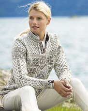 Sweaters from DALE OF NORWAY.  Picture shows 'PEACE'.  Click to see more.